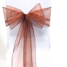 50 Organza Wedding Chair Sashes ideal for Weddings, Parties and Christenings