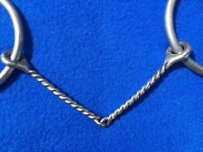 """Reinsman Loose O Ring Snaffle Thin Smooth Twisted Wire Mouth 5"""" Bit Training"""