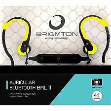 Auriculares Brigmton Bml-11 Bluetooth Sport amarillo
