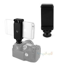 Cell Phone Clip Holder + Hot Shoe Screw Adapter Tripod Mount for SLR DSLR Camera