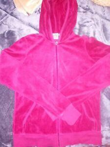 Juicy Couture (Medium)Tracksuit Terrycloth Top Pink