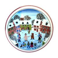 Mint Villeroy & Boch Design Naif Round Porcelain Folk Art 5 Inch Trinket Box