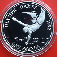 Tonga: 1 paanga 1991 Argento PP-proof, km # 140, F # 2259