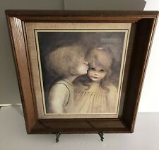 Vintage First Kiss By Margret Kane Nicely Framed And Signed