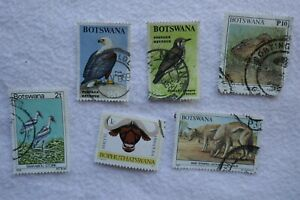 BOTSWANA  x 6  postage stamps small collection lot, as per photo
