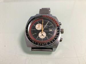 Gent's Vintage SICURA 17J Divers/Pilots Style Mechanical Chronograph Wristwatch