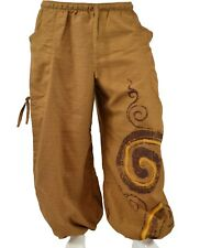 Alibaba Harem Tan Brown Spiral Circle Trousers Aladdin Trouser Pant Unisex