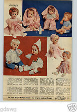 1961 PAPER AD Doll Darlene Baby Dollikins Shirley Temple Betsy McCall Pollyanna