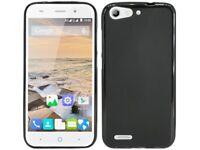 Silikon hülle Handyschale Schutzhülle Case Tasche Bumper Black für ZTE BLADE V6