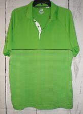 Cutter & Buck Mens DryTec Lime Green Short Sleeve Polo Shirt Size Large