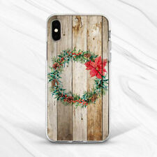 Christmas Wreath Floral Old Wood Case For iPhone 6 7 8 Xs XR 11 Pro Plus Max