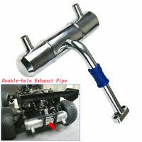 NEW Aluminium Exhaust pipe for HPI rovan Baja 5B 5T King Motor 1:5 RC Car