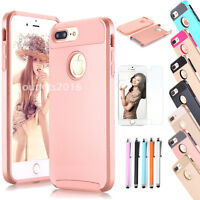 Shockproof Hybrid Rugged Rubber Slim Hard Cover Case For Apple iPhone 8 7 8 Plus