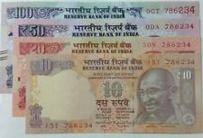 786 WITH FANCY NUMBER.***786234*** 10,20,50,100 RUPEES  4 U.N.C NOTES