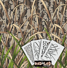 Redleg Camo DG8 - 4 Piece Camouflage stencil kit  **18x26** duck boat wall