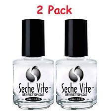Seche Vite Dry Fast Top Coat /  0.5oz / Pack of 2