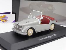 "TOP Schuco 00085 # Kleinschnittger F-125 Cabrio Bj. 1950 "" silbermetallic "" 1:18"