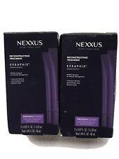 Nexxus Reconstructing Keraphix Gel Treatment Lot Of 2 Damaged Hair 2/box .34 Oz