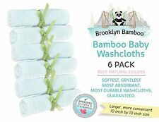 Brooklyn Bamboo Beats The Motherhood Collection Bamboo Ultra Soft Washcloths 6pk