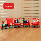 Wood Christmas Wooden Train Toys Xmas Ornament Decor Gift Present Kids Children