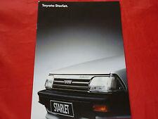 TOYOTA Starlet 1.0 1.3 S Diesel Prospekt von 1986