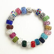 50pcs Mix Crystals Bead fit European Charm Bracelet SF43