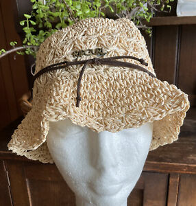 RIP CURL Funky Ivory Paper Weave Floppy bucket Hat Adult One Size
