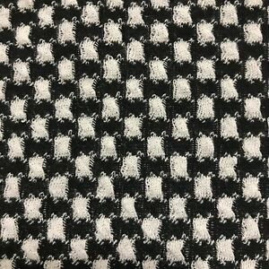 JACQUARD KNIT FABRIC BLACK AND WHITE SQUARED   - SOLD BY THE METRE