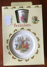 Royal Doulton Bunnykins Children's Dish Set Made In England 1981 NEW IN BOX