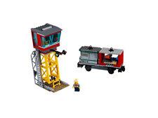 LEGO® City Eisenbahn Zug Lok Leitstelle Signalleuchten Containerwaggon NEU