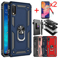 For Samsung Galaxy A10E Case Ring Stand Cover Holster Belt Clip Screen Protector