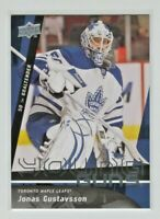 2009-10 UPPER DECK HOCKEY JONAS GUSTAVSSON YOUNG GUNS #490 RC