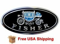 1955-1981 for GM Door Sill Plate Body By Fisher Aluminum Emblem Decal Tag Pair