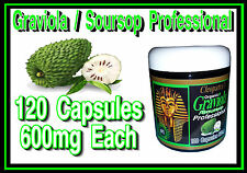 Cleopatras USA Made Professional Graviola Extract 120 Capsules 600mg each 1200mg