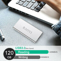 USB 3.0 Hard Drive Portable External SSD High Speed 120G HDD Mobile Disk Case PC