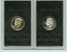 2 PC. 1971 EISENHOWER PROOF SILVER DOLLARS NO BOXES!!!..STARTS@ 2.99