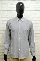 Camicia CALVIN KLEIN COLLECTION Uomo Taglia 42 Maglia Chemise Shirt Cotone Slim