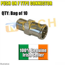 10 X Push On F Connectors, Saorview,Free To Air, Free TV