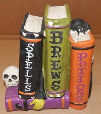 Halloween Four Books Potions Spells Brews Skull Plaster Decor Celebrate It 134A