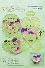 Lea'bilities Cutting & Embossing Die - Multi Flower 003 - Pansy - Flower  Leaves