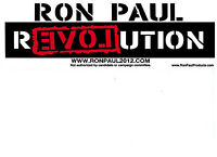 50 RON PAUL REVOLUTION 2012 BUMPER STICKER - FREE SHIPPING - 2016 - LIBERTARIAN