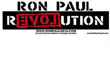 RON PAUL REVOLUTION 2012 BUMPER STICKER 2016 LIBERTARIAN RAND