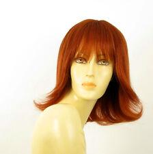 perruque femme 100% cheveux naturel longue cuivré intense ref TABATA 130