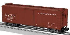 2014 Lionel 6-29384 Lackawanna Double-Sheathed Vagón #44153 New en El Caja Rollo