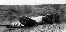 WWII B&W Photo US P-47 Thunderbolt Crash  WW2 World War Two USAAF  /5064