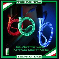 CAVO CAVETTO LED LIGHTNING USB LUMINOSO COLORATO IPHONE 5 5S 6 PLUS IPOD IPAD