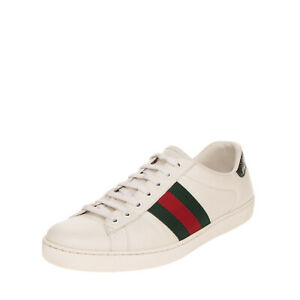 RRP €540 GUCCI Leather Sneakers EU 42 UK 8 US 8.5 Web Detail Made in Italy
