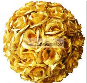 9-10 Inches Gold Rose Flower Ball Wedding decoratin Ball Kissing Ball USA