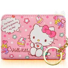 Pink PU Leather For Hello Kitty ID Credit Card ID Card Holder Business Card Case