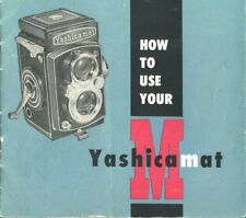Yashicamat Instruction Manual early